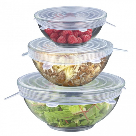 Set 3 Capace din Silicon Flexibile pentru Oale, Cratite, Caserole si Alimente, 6 cm, 12cm, 16cm, Premium [0]