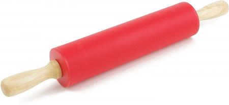 Sucitor din SIlicon cu Rotire prin Ax Metalic, pentru Modelat Aluatul pentru Prajituri, Calitate si Design Premium, 30cm [8]