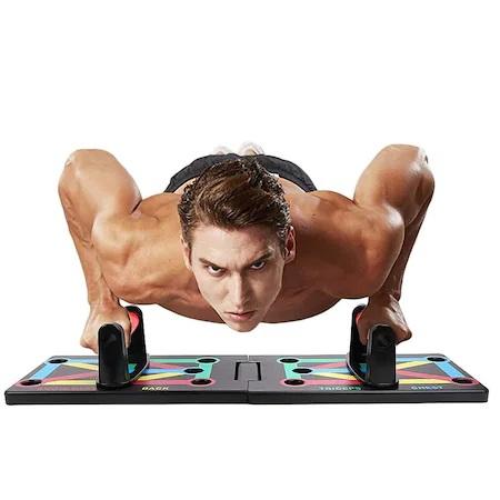 Placa Fitness pentru Antrenamente Sportive si Flotari, cu Manere pentru Tonifiere Muschi Abdominali, Piept, Biceps, Triceps, Spate, Umeri [5]