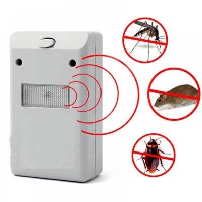 Aparat Multifunctional cu Ultrasunete Impotriva Rozatoarelor si Insectelor, 220V, Non Toxic, Alb1