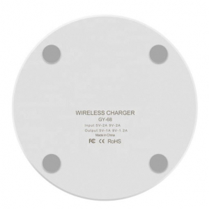 Incarcator Wireless Fast Charge Ultra-Slim Qi Compatibil Android IOS 1.2A - Alb7