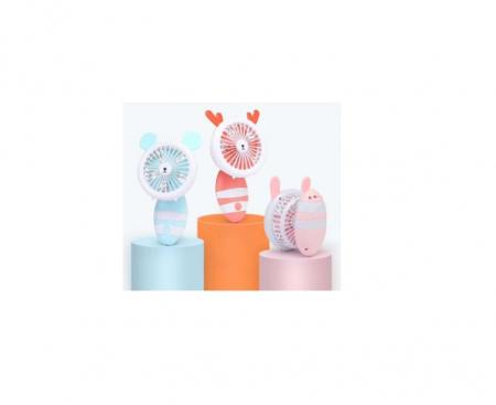 Ventilator de Mana Foarte Puternic cu Acumulator Intern si Incarcare la USB, cu Lumini LED, Pliabil, Premium, Portocaliu [1]