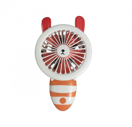 Ventilator de Mana Foarte Puternic cu Acumulator Intern si Incarcare la USB, cu Lumini LED, Pliabil, Premium, Portocaliu [3]