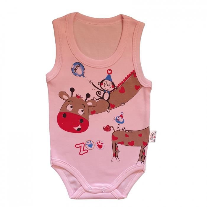 Body bebelusi maiou girafa roz bumbac 3-18 luni 0