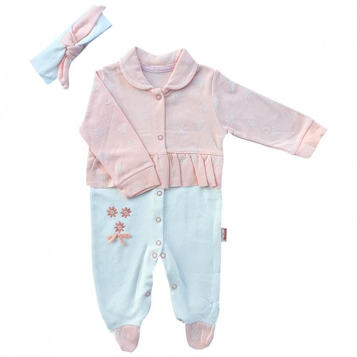 Salopeta bebe fetita roz pal 0