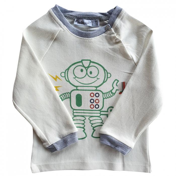 Bluza alba robot 0