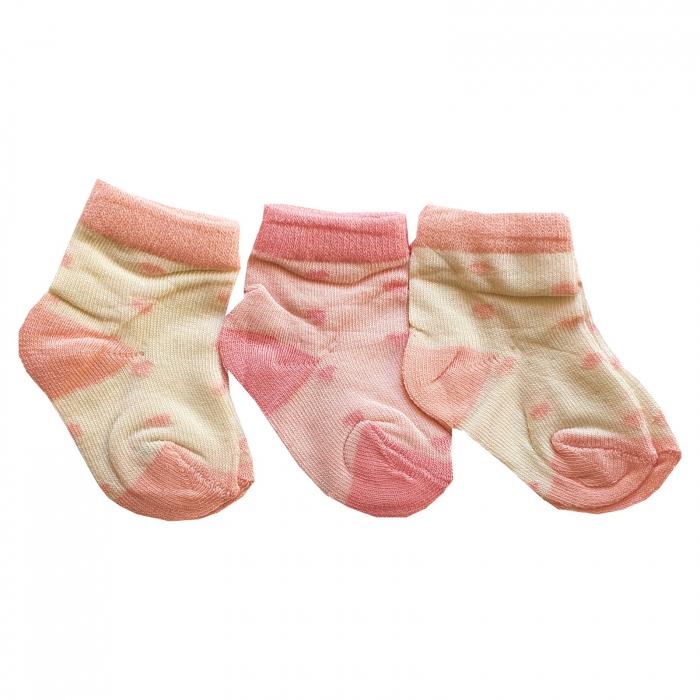 Set 3 perechi sosete roz 0