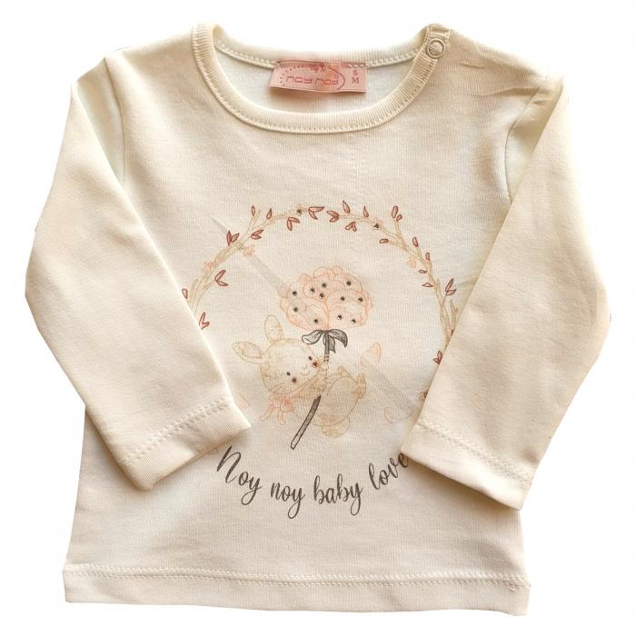 Bluza fetita alba iepuras 0