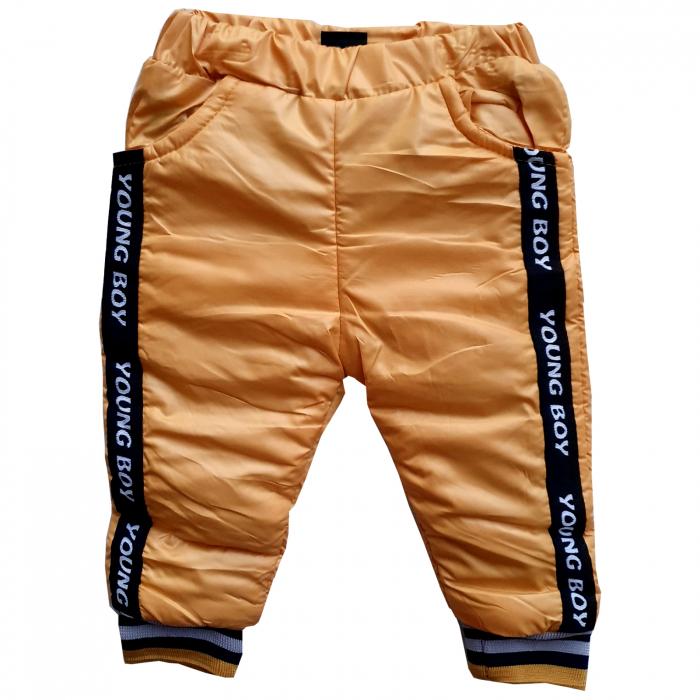 Pantaloni de fâș portocalii 0
