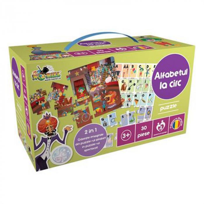 Puzzle Educativ Alfabetul la circ,30 piese 0
