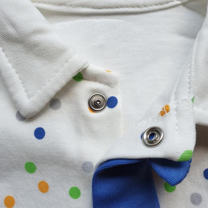 Salopeta bebe cravata albastra 1