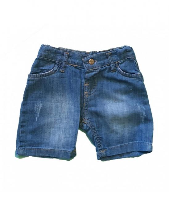 Blugi scurti albastri baietel 9-36 luni [0]