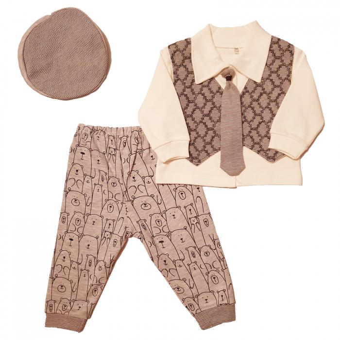 Bluza cu veston, cravata si pantaloni maro Peaky Blinders 0