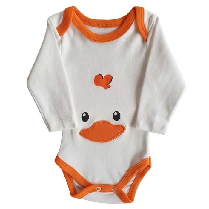 Body bebe alb puisor bumbac 0-18 luni 0