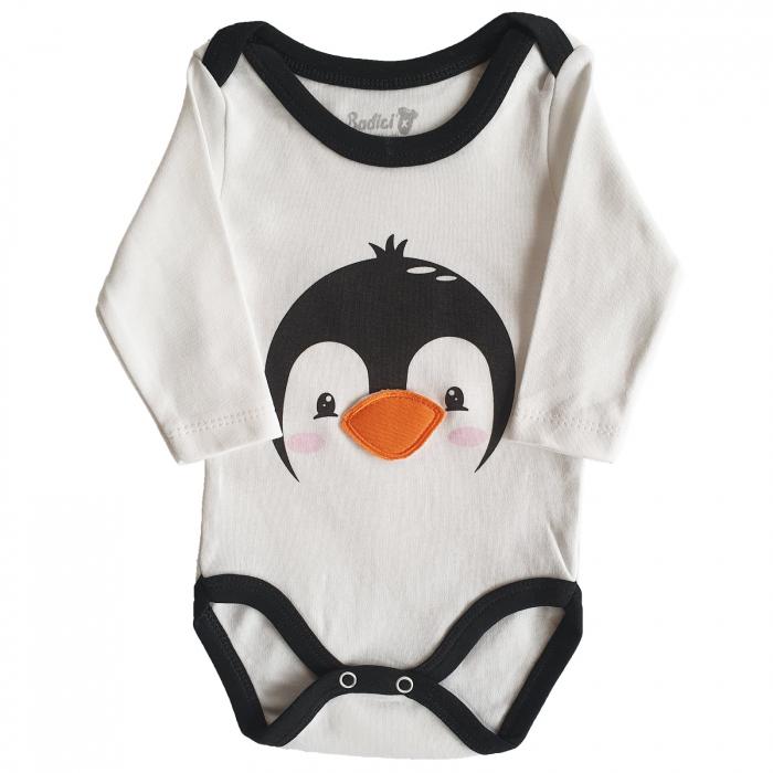 Body bebe pinguin bumbac 0-18 luni 1