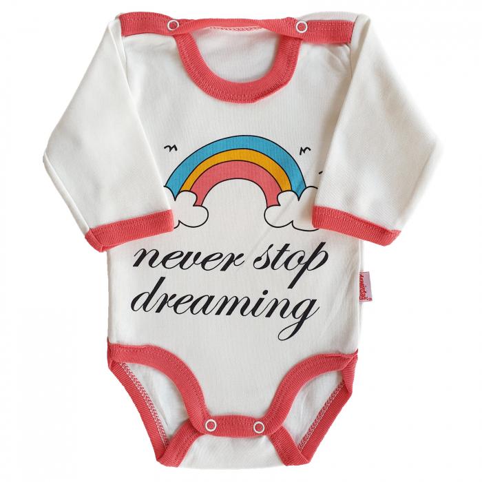 Body bebelusi fetita curcubeu roz bumbac 0-9 luni [0]