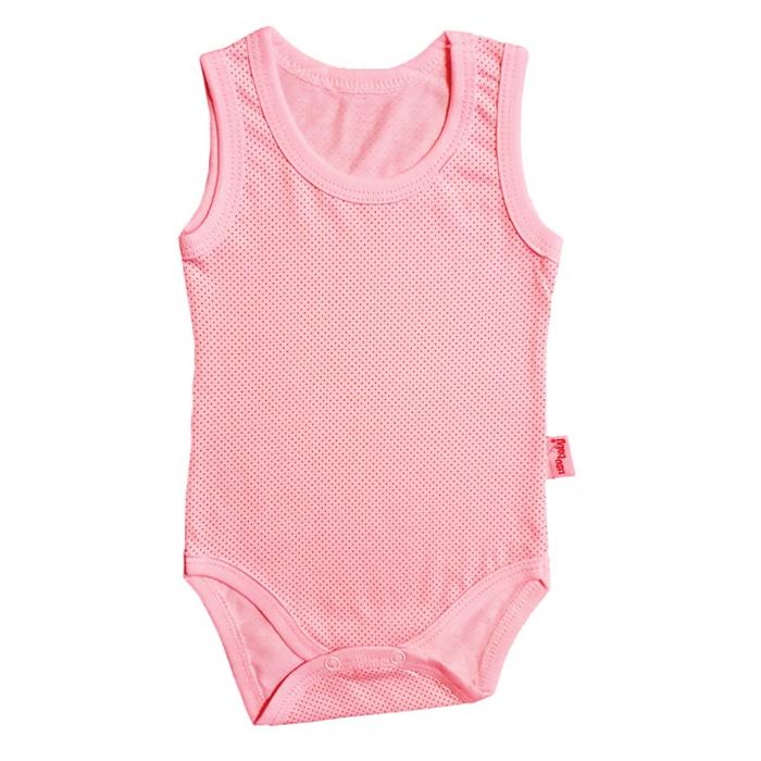 Body bebelusi maiou roz bumbac 0-18 luni 0