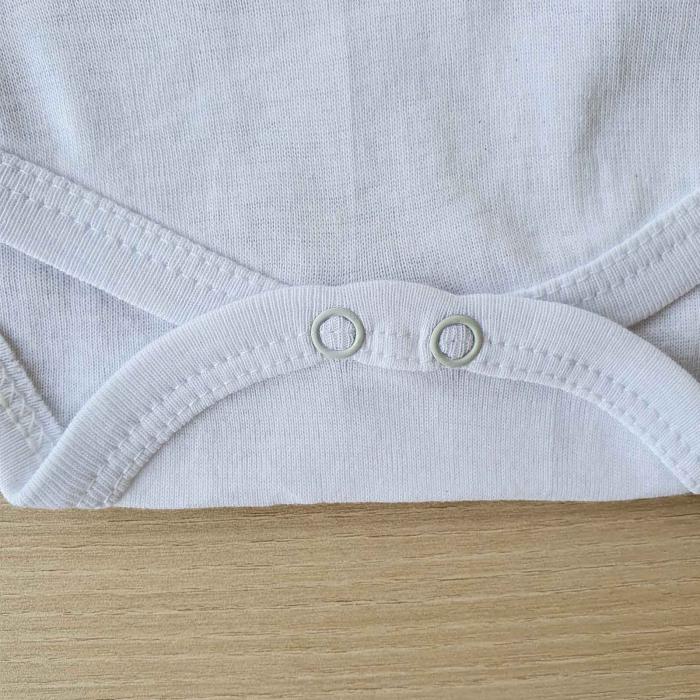 Body bebelusi maneca lunga capsuni alb bumbac 0-12 luni 2