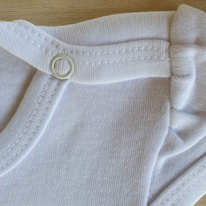 Body bebelusi maneca scurta mica sirena alb bumbac 0-12 luni [2]