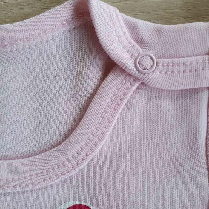 Body bebelusi pisicuta cu fundita roz bumbac 0-12 luni [1]