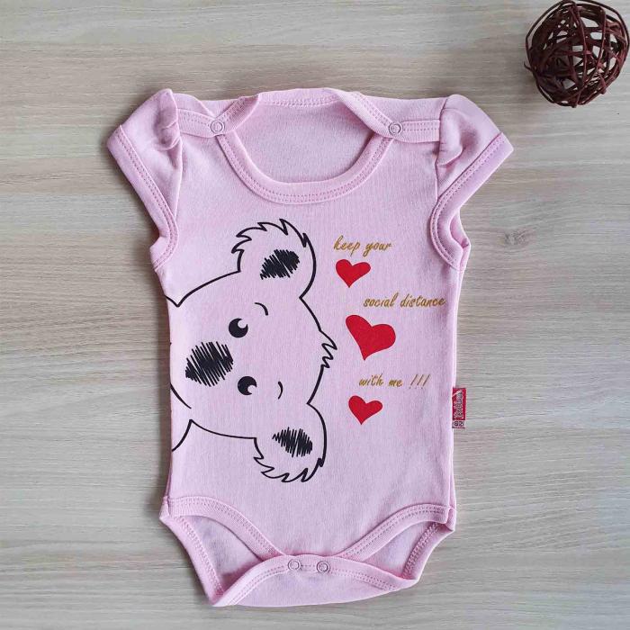 Body bebelusi urs koala roz bumbac 0-12 luni [0]
