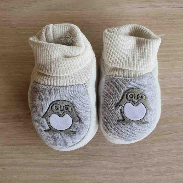 Botosei bebelusi gri pinguin bumbac 0-3 luni [0]