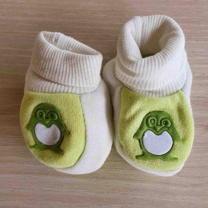 Botosei bebelusi verzi pinguin bumbac 0-3 luni [0]
