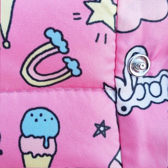 Compleu fetita cu vesta roz unicorn 2