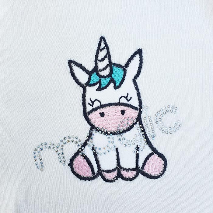 Compleu fetita cu vesta roz unicorn 1