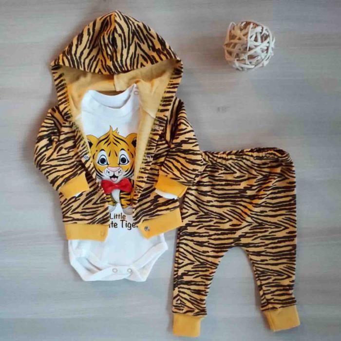 Compleu bebelusi 3 piese tigru bumbac 0-9 luni [0]