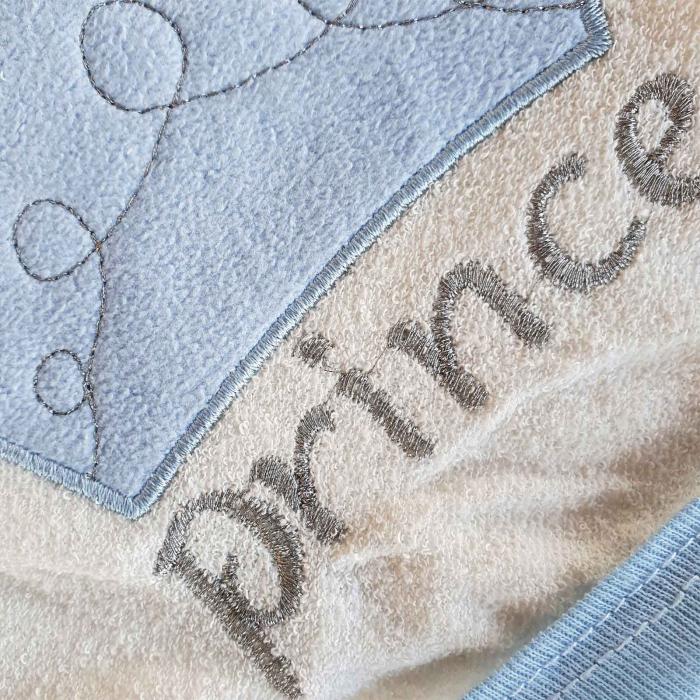 Prosop de baie alb cu bleu prince bumbac [1]