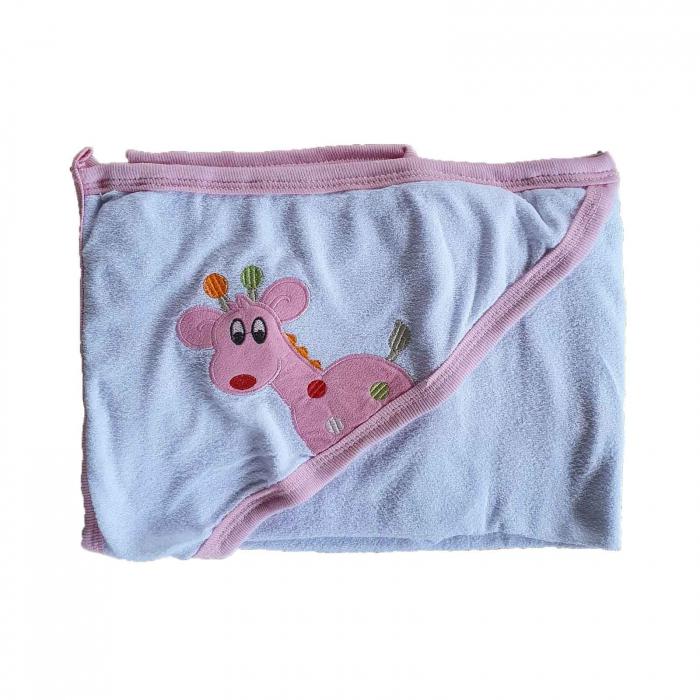 Prosop de baie girafa roz [0]