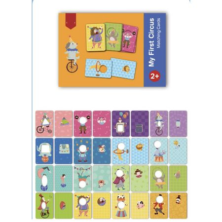 Joc educativ bebe Asociaza Cardurile - Primul meu circ 4