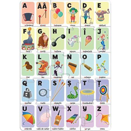 Puzzle Educativ Alfabetul la circ,30 piese 1