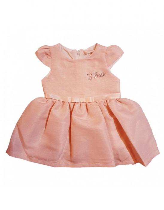 Rochita bebelusi eleganta, roz cu pliuri de ploaie 6-24 luni [0]