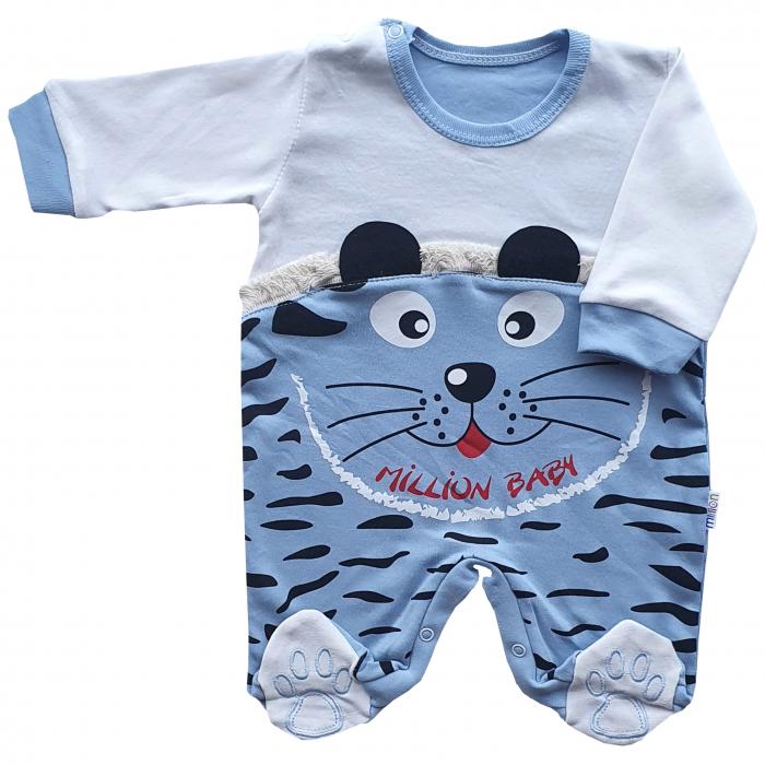 Salopeta bebe tigru bleu 0
