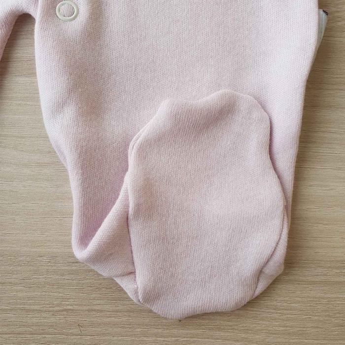 Salopeta bebelusi maneca lunga si caciuita magarus roz bumbac 0-9 luni 2