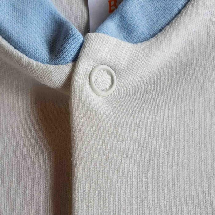 Salopeta bebelusi maneca scurta leu bleu bumbac 0-9 luni [1]