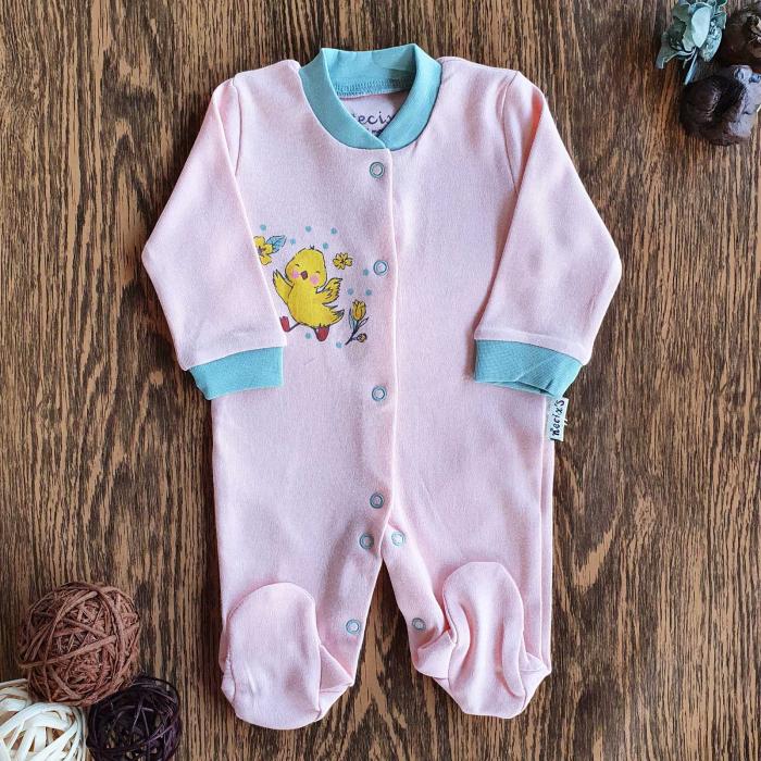 Salopeta nou nascuti roz puisor bumbac 0