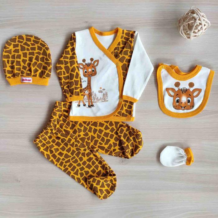 Set 5 piese nou nascuti girafa bumbac [0]