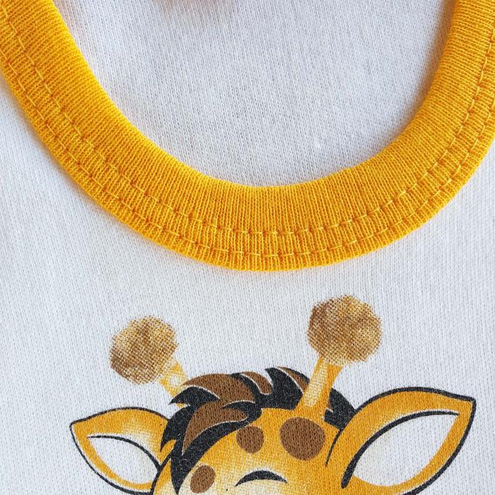 Set bebelusi body, pantaloni si caciulita girafa bumbac 0-9 luni 1