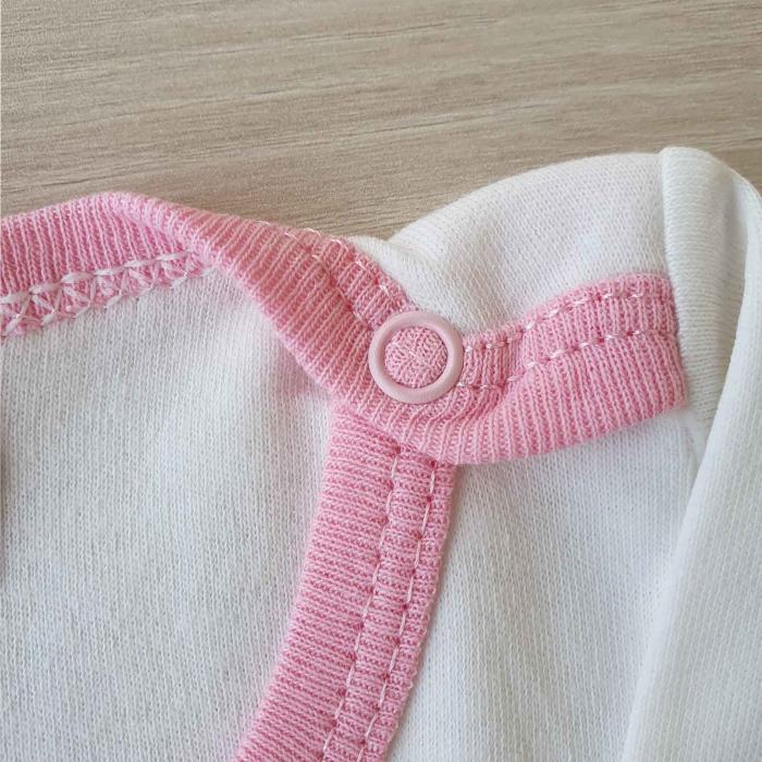 Set bebelusi body, pantaloni si caciulita iepuras roz bumbac 0-9 luni 1