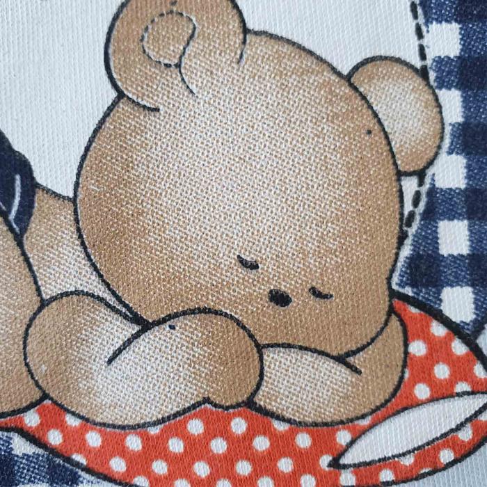 Set bebelusi body, pantaloni si caciulita ursulet bleu bumbac 0-9 luni 1