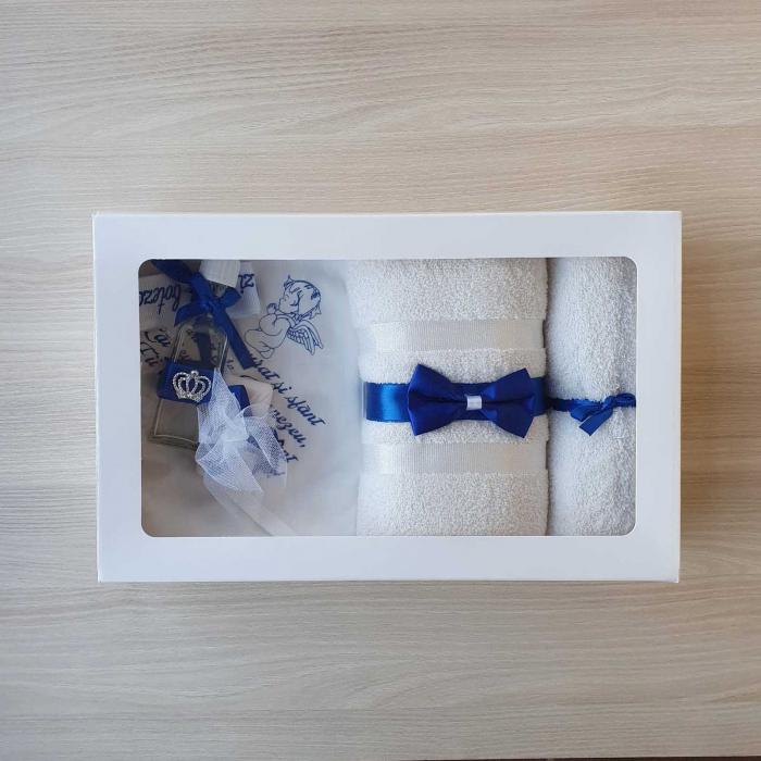 Trusou botez alb cu albastru ingeras [0]