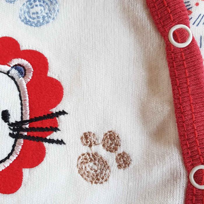 Set nou nascuti 5 piese bluzita, pantaloni, caciulita, bavetica si manusi leu jungla  bumbac 1