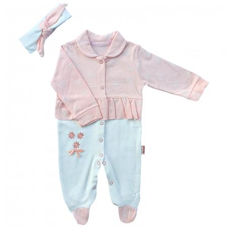 Salopeta bebe fetita roz pal0