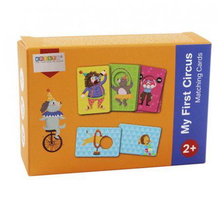 Joc educativ bebe Asociaza Cardurile - Primul meu circ0