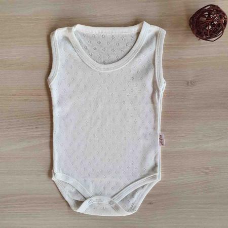 Body bebelusi maiou alb bumbac 0-9 luni [0]