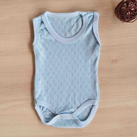 Body bebelusi maiou albastru bumbac 0-9 luni [0]
