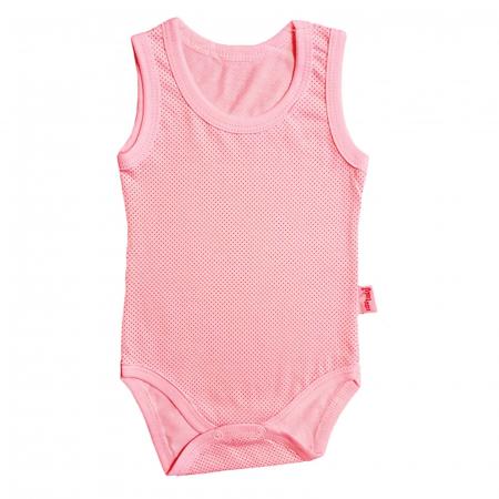 Body bebelusi maiou roz bumbac 0-18 luni